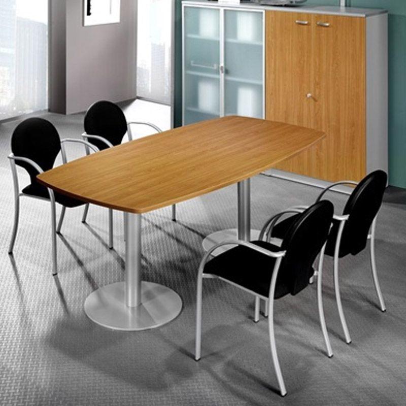 mesa para reuniones con forma mobiliario de oficina