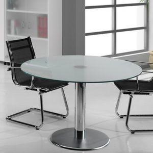 Mesa para reuniones en cristal