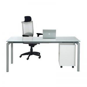 Mesa para oficina de cristal