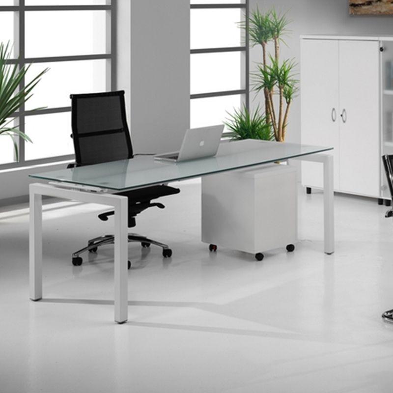 Mesa para oficina de cristal Euro5000. Mobilairio de oficina | AulaMobel