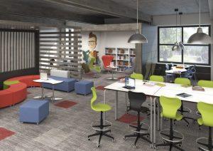 Mesa alta para aulas